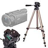 DURAGADGET Trípode Profesional para Videocámara Sony Handycam FDR-AX53 | HDRAS50B.CEN | HDRCX625B.CEN | SEREE HDV-S5 - con Nivel De Burbuja