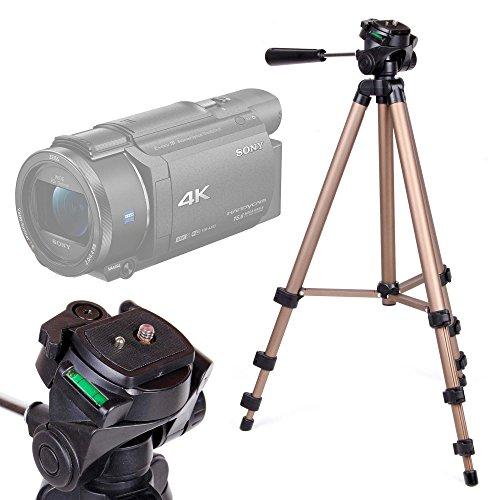 Treppiede pieghevole e rotante Per Videocamera Somikon DV-812.HD | Sony FDR-AX33 | FDR-AX53 | DR-CX240E | HDR-PJ410 | Stoga HD - 43-125 cm - Alta Qualità - DURAGADGET