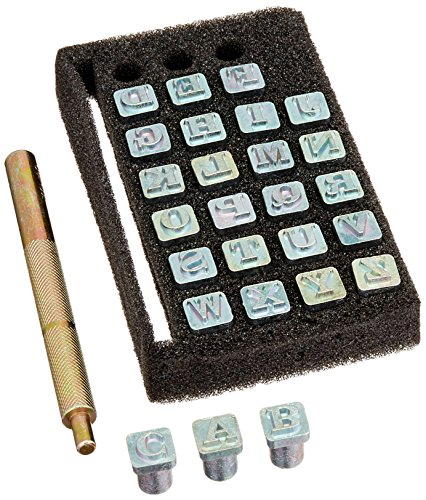 Tandy Leather Easy-To-Do Stamp Set Alphabet 0.6 cm (1/4') 4903-01