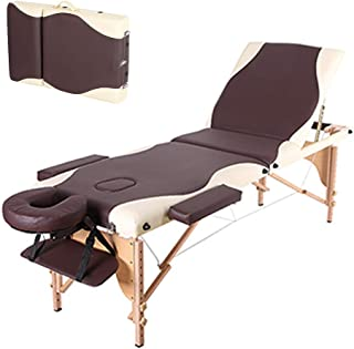 3-Fold Beauty Bed Beauty Salon Portable Folding Bed Suitable for Massage Moxibustion Body Care Tattoo