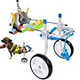 Adjustable Dog Cart/Wheelchair, Animal Exercise Wheels,for Pet/Doggie Wheelchairs with Disabled Hind Legs Walking (7-Size)(S)