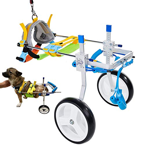 Adjustable Dog Cart/Wheelchair, for Pet/Doggie Wheelchairs with Disabled Hind Legs Walking (7-Size)(S)