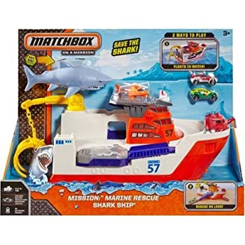 Matchbox Car-Go Commander Shark Ship Floats in Water and Rolls on Land by Matchbox