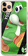 ZMEGGW iPhone SE 2020/7/8 Funda Pure Clear Soft-Flexible Anti-Rasguños Cajas del Teléfono Cover para Apple iPhone SE 20207/8 4.7 Pulgadas (Yoshi Happy Green Dinosaur Game)