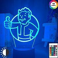 ゲームフォールアウトシェルターロゴLEDナイトライト(子供用)寝室装飾クールイベント賞ナイトライトカラフルUSBテーブルランプ
