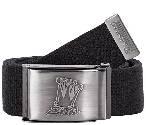 Original 2stoned Tresor Gürtel/Safe Belt mit matter Schnalle Crown in Schwarz 4cm breit