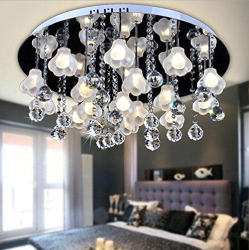 Plafonnier Peaceip en Cristal créatif de LED, éclairage intérieur Simple Moderne, pour Le Restaurant de Salon de Chambre à Coucher