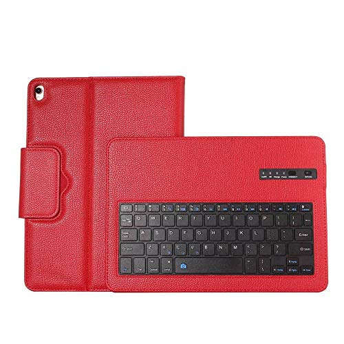 Teclado Bluetooth para iPad Pro Funda con Teclado inalámbrico de 10,5 Pulgadas para iPad Pro 10,5 Funda con Soporte de Cuero con Tapa para Tableta-Rojo