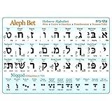 Hebräisches Alphabet (Druck und Kursiv), laminiertes