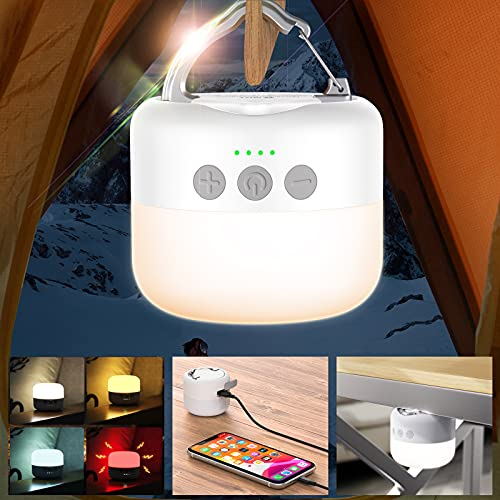 〔6700mAh〕1000LM Camping Lantern Rechargeable,Hanging LED Lights Bulbs,Camping Tent Light,Mini Lantern Flashlight for Emergency,Hurricane, Outdoor,Power Outage, Hiking,Battery Powered.Lighting/Lamp.