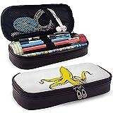 Astuccio portamatite in pelle PU con cerniera, portapenne per banchi portaoggetti per polipo a banana ad alta capacità, borsa per trucco cosmetica