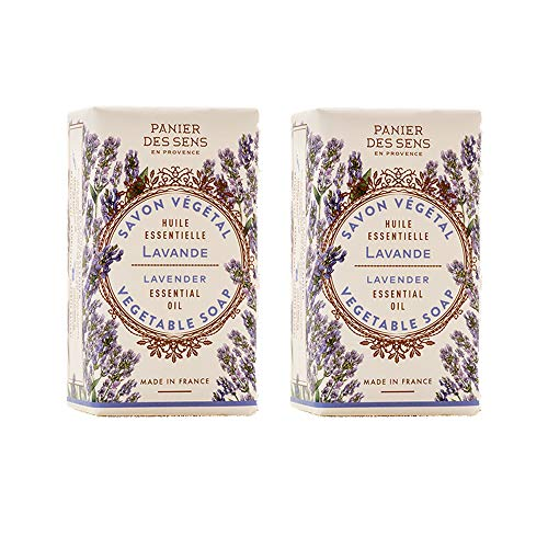 Panier des Sens Lavendel Seifenstück - Made in France - 2 x 150g