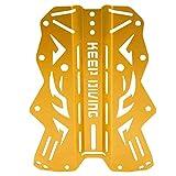 Wandisy Rückenplatte, Luminum Alloy Harness-Rückenplatte für das Tauchen unter Wasser(Gold)