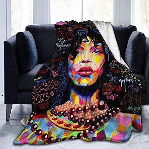 DWgatan Couverture,Couvre-lit de canapé Polyvalent Doux et Chaud de qualité Couverture imprimée Rose Graffiti Street Art pour canapé-lit de Salon de Chambre à Coucher -80\