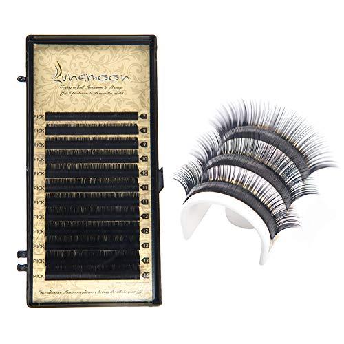 Lunamoon Faux Cils Naturel Extension False Eyelashes Individuels pour Maquillage Yeux Multi-tailles C-Curl 7mm-14mm