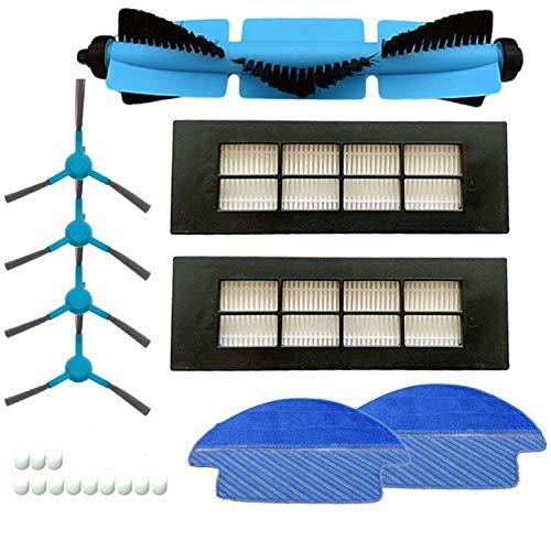 Accessoires pour Aspirateur Rouleau Filtre Brosse Hepa côté Brosse Réservoir d'eau Filtre for Cecotec Conga 3090 Series Aspirateur Pièces Mop Pad Tissu Accessori Remplacement (Color : Blue)