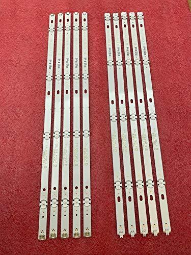Juego de 10 tiras de retroiluminación LED para LG 55UJ6300...
