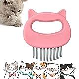 JIASHA Katzenbürste, Haustier Katzen Bürste, Katzenkamm, Massagekamm für Haustier Katzen,Haustier Hund Bürste, Haustier Massagebürste Katze Hund (Rosa)