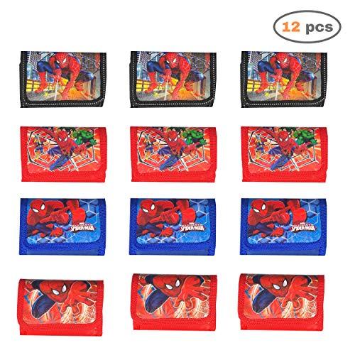 Set van 12 portemonnees voor de VERJAARDAG van kinderen (superheld)
