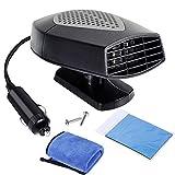 Nabance Chauffage Voiture Ventilateur 12V Ventilateur Voiture Allume Cigare Chaud Froid Ventilateur Auto Dégivrage et Désembuage Rapide de Pare-brise