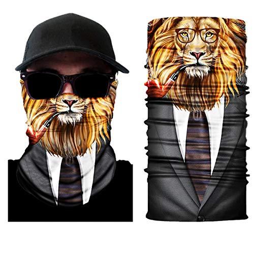 10 Stück Atemschutz Mundschutz, Unisex Damen Männer Lustig 3D Druck Motorrad Face Shield Sturmhaube, für Motorrad Fahrrad Ski Paintball Gamer Karneval Kostüm 3D,1