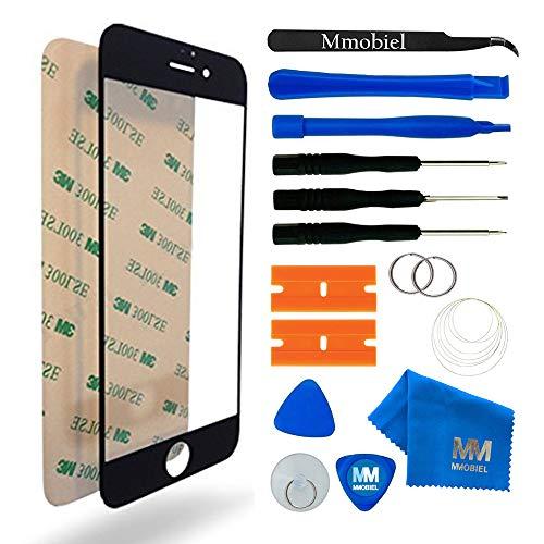 MMOBIEL Front Glas Reparatur Set kompatibel mit iPhone 7 Plus Series (Schwarz) Display mit Werkzeug-Set