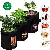 SUPTEMPO Sacs de Plantation de Jardin, Sacs de Culture pour Pommes de Terre Tomates Radis, Sacs de Plantation de Légumes Respirant avec des Gants de Jardinage