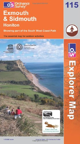 OS Explorer map 115 : Exmouth & Sidmouth