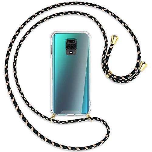 mtb more energy® Collar Smartphone para Xiaomi Redmi Note 9s, Note 9 Pro (6.67'') - camouflaje/Oro - Funda Protectora ponible - Carcasa Anti Shock con Correa para Hombro