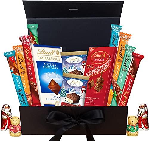 Lindt Christmas Chocolate Gift Box - Luxury Chocolates Christmas Gift Box of Assorted Lindt Chocolate Bar