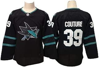 Women's #39 Couture Jersey Sharks Logan Black Breakaway Player Jersey Ice Hockey Sportswear Jersey