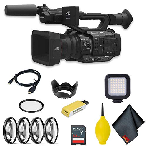 Buy Panasonic AG-UX180 4K Premium Professional Camcorder Intermediate Accessory Bundle w/LED Light &...