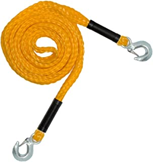 RPS Outdoors Yellow 14' SI-2034 Recovery Tow Rope (4,500 lb. Break Strength) with Safety Steel Forged Hooks (14 Ft. x 1.25 in.)