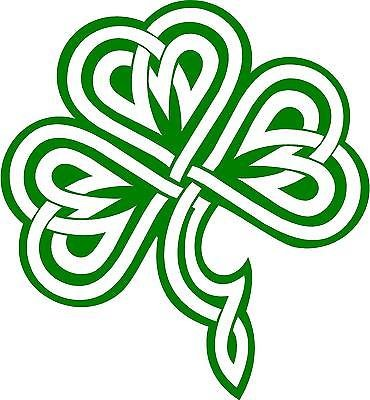 Celtic Knot Clover Shamrock Vinyl Decal Sticker | Cars Trucks Vans SUVs Laptops Walls Windows Cups | Green | 5.5 X 5 | KCD2124