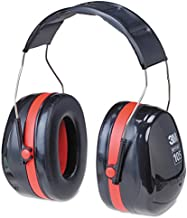 3M H10A Peltor Optime 105 Over the Head Earmuff, Ear Protectors, Hearing Protection, NRR 30 dB,Black, Red