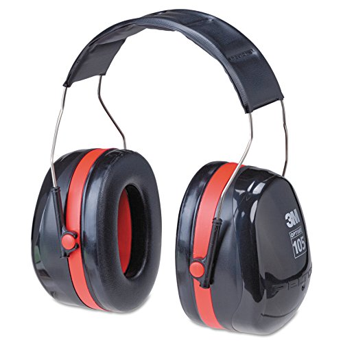3M H10A Peltor Optime 105 Over the Head Earmuff, Ear Protectors, Hearing Protection, NRR 30...