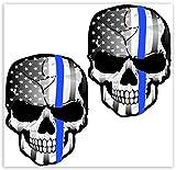 Biomar Labs® 2 pcs Pegatinas USA Apoyo Policial Thin Blue Line...