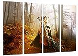 Quadro Su Legno, Decorazione musicale romantica, violino, gotico, 131 x 62cm, Stampa in qualita fotografica. Ref. 26871