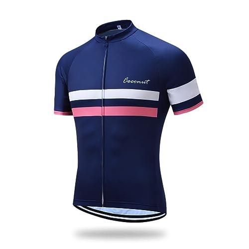 Coconut Ropamo Men s Shorts Sleeve Cycling Jersey Tops Bike Clothing Biking  Shirt with 3 Pockets c95fb75f2
