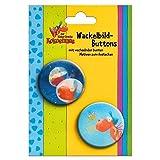 Der kleine Drache Kokosnuss - Wackelbild Buttons: 2er Set -