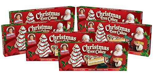 Little Debbie Christmas Tree Cakes (Vanilla), 6 Boxes, 30 Individually Wrapped Snack Cakes