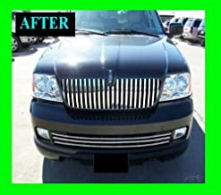 312 Motoring fits Lincoln Navigator 2005-2006 Lower Chrome Grille Grill KIT 05 06 Limited Luxury Ultimate Elite
