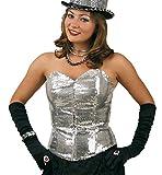 Gurimo-Tex 114945 - Pailletten Corsage Kostüm, Silber