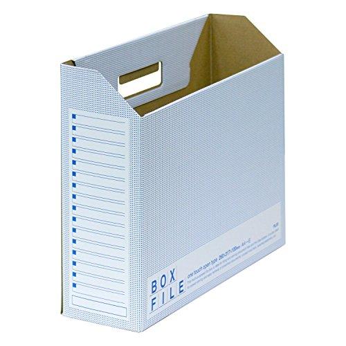 プラス ファイルボックス エコノミー 10冊 A4横 背幅100mm ブルー 553-988