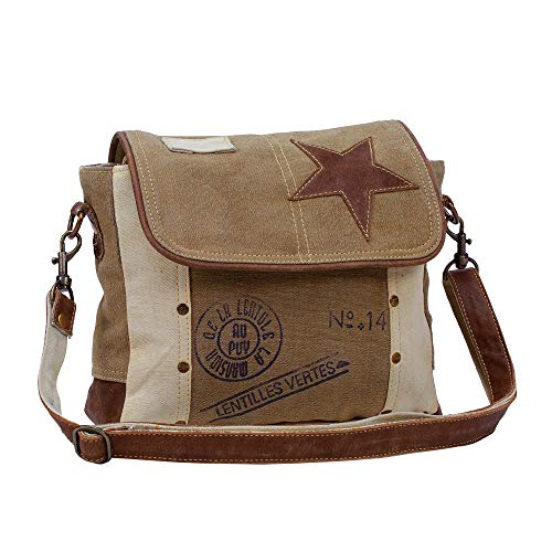 Leather Star Shoulder Bag,adjustable leather handle, leather trim and star accent