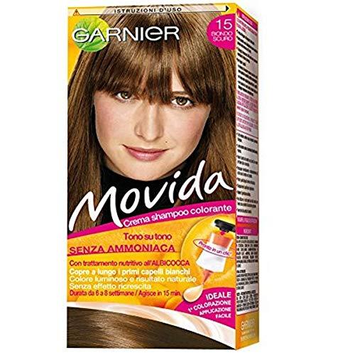 Garnier Movida Crema Shampoo Colorante, 15 Biondo Scuro