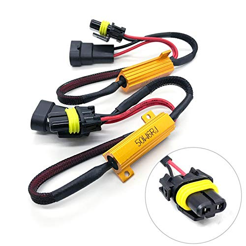 O-NEX LED Widerstand Kit HB4 9006 Relais Harness Adapter Anti Flicker Fehler Decoder Warnung Canceller (Anfälle: 9005, 9145, H10)