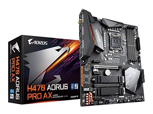 Gigabyte H470 AORUS PRO AX (LGA1200/INTEL/H470/ATX/SATA 6Gb/s/USB3.2 Gen 2/WiFi 6/2.5 GbE LAN/HDMI/DP/Dual M.2/DDR4/Motherboard)