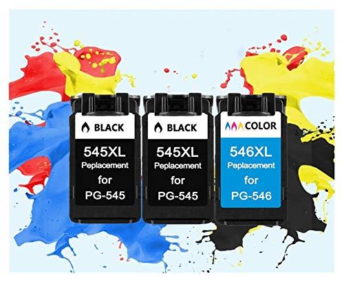 TZZDe remanufacturado aplicable 545XL 546XL Cartucho de Tinta for Impresora Canon Pixma IP2850 PG545XL CL546XL MX495 MG2450 MG2550 MG2950 NS28 (Color : 2Black 1Color)