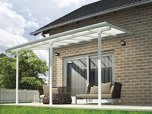 Palram Pergola Patio Cover Feria - Robust Structure for Year-round Use (3X4.25, White)